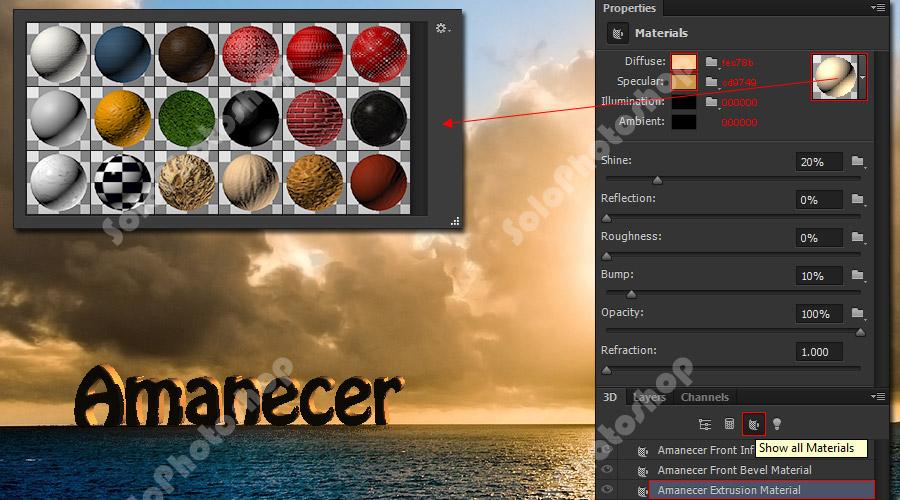 Aplicar materiales a Texto 3D